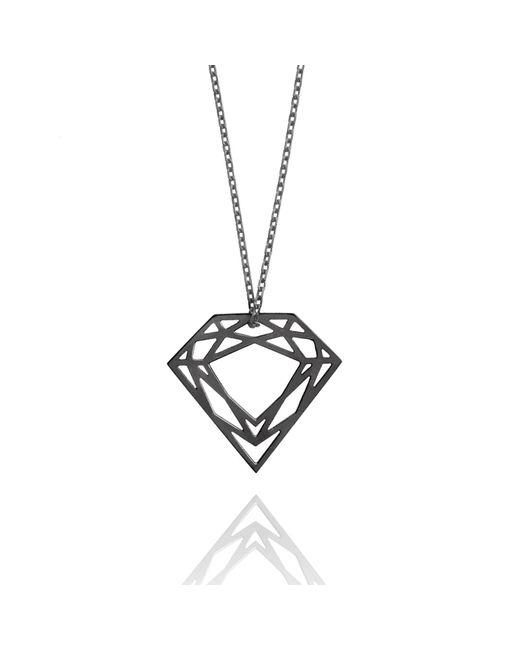 Myia Bonner - Black Classic Diamond Necklace - Lyst