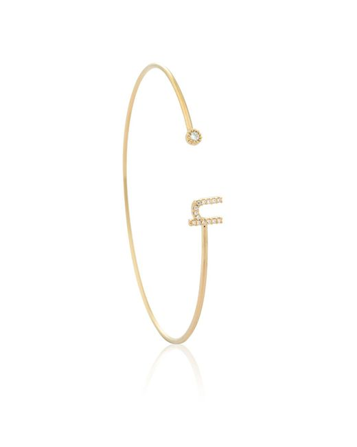 Astrid & Miyu - Metallic Gold Initial U Bangle - Lyst