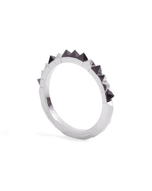 Kasun - Black Crocodile Onyx Ring Silver - Lyst