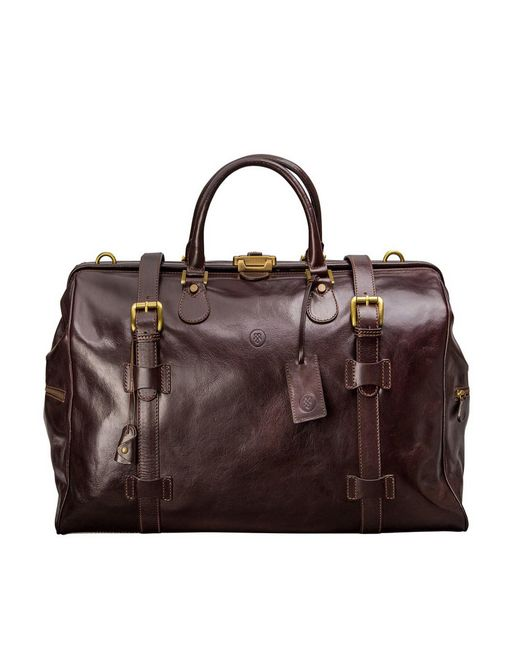 Maxwell Scott Bags | Large Brown Leather Gladstone Bag Gassano L for Men | Lyst