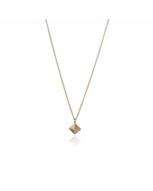 Myia Bonner   Metallic Gold Mini Octahedron Necklace   Lyst