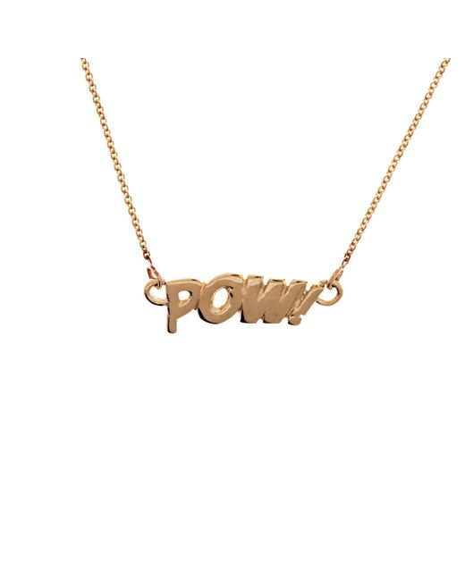 Edge Only - Metallic Pow Necklace In 14ct Gold - Lyst