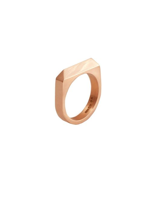 Edge Only - Metallic Rooftop Ring In 14ct Gold - Lyst