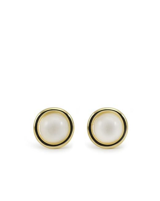 Vintouch Italy - Metallic Satellite Gold Vermeil Moonstone Stud Earrings - Lyst