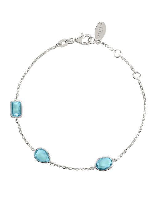 Latelita London | Metallic Venice Bracelet Silver Blue Topaz | Lyst