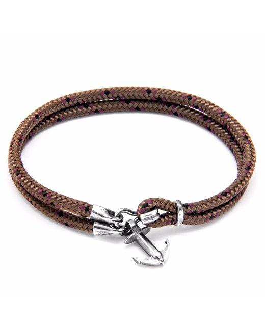 Anchor & Crew   Metallic Brown Brighton Silver & Rope Bracelet for Men   Lyst
