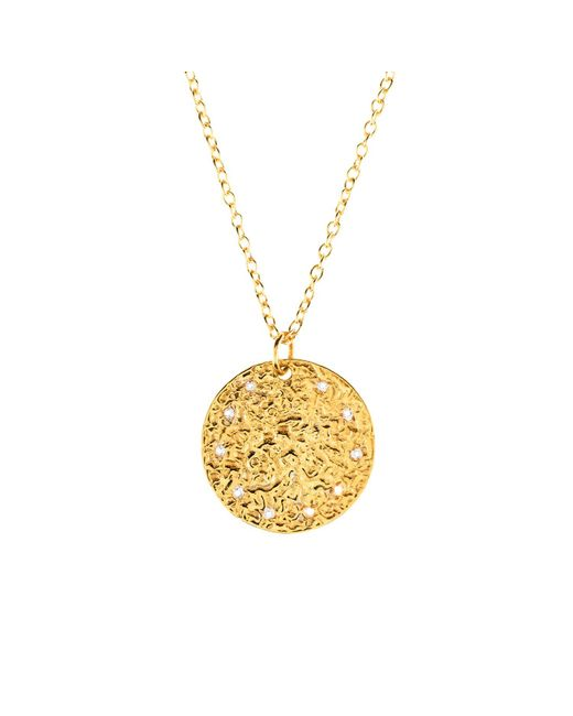 Latelita London - Metallic Cosmic Full Moon Necklace Gold - Lyst