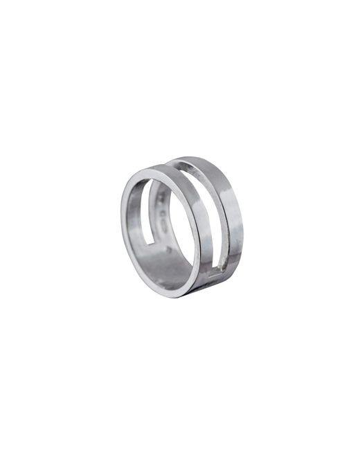 Edge Only - Metallic Parallel Ring Silver - Lyst