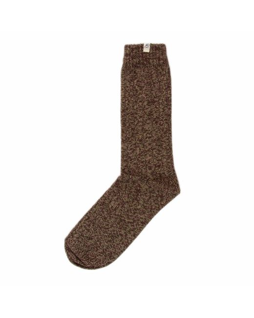 40 Colori - Brown Beige Melange Thick Ribbed Organic Cotton Socks for Men - Lyst