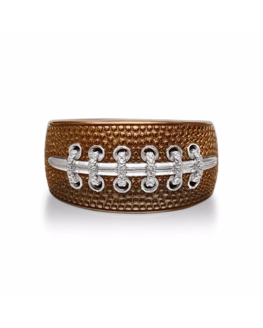 LMJ - Brown Hustle & Tackle American Football Ring for Men - Lyst