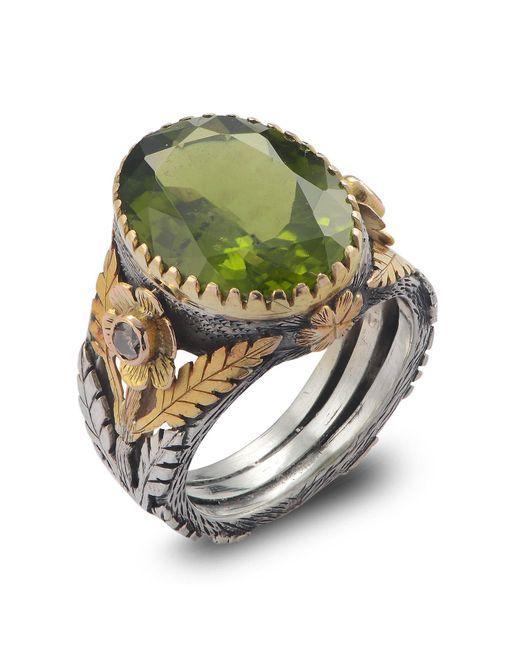 Emma Chapman Jewels - Green Orisha Peridot & Diamond Ring - Lyst