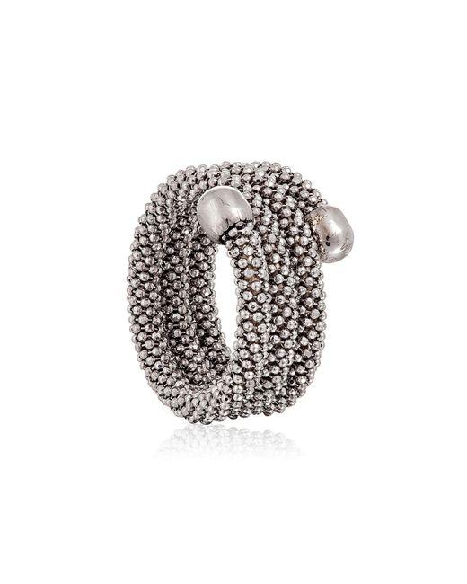 Durrah Jewelry - Metallic Silver Spring Ring - Lyst