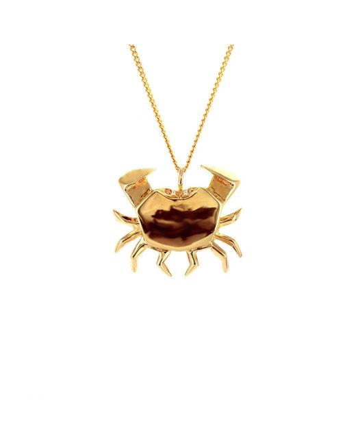 Origami Jewellery | Metallic Crab Necklace Gold | Lyst