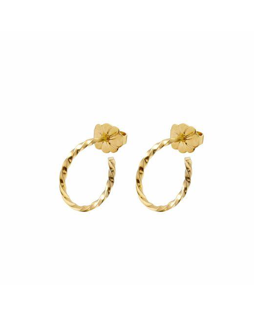 Myia Bonner - Metallic Gold Mini Twist Hoop Earrings - Lyst
