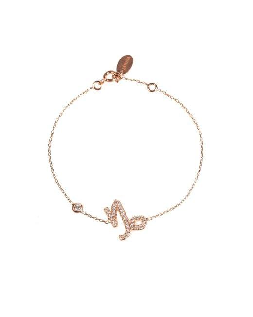 Latelita London | Metallic Zodiac Bracelet Rosegold Capricorn | Lyst