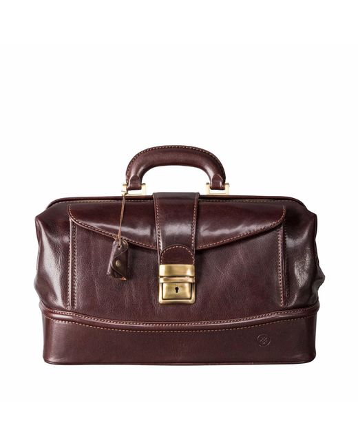 Maxwell Scott Bags | The Donnini S Small Luxury Leather Medical Bag Chocolate Brown for Men | Lyst