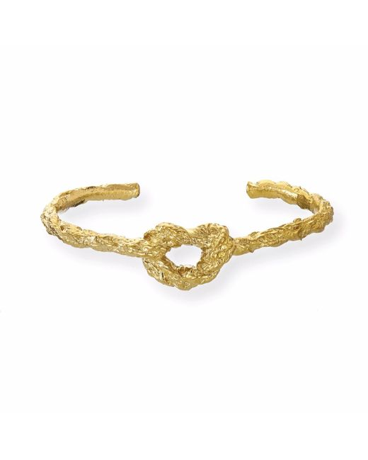 Chupi | Metallic Forget Me Knot Bangle In Gold | Lyst