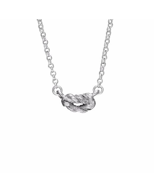 Chupi | Metallic Forget Me Knot Necklace In Silver | Lyst