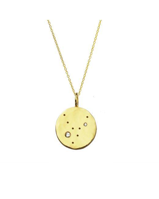 Yvonne Henderson Jewellery - Metallic Virgo Constellation Necklace With White Sapphires Gold - Lyst