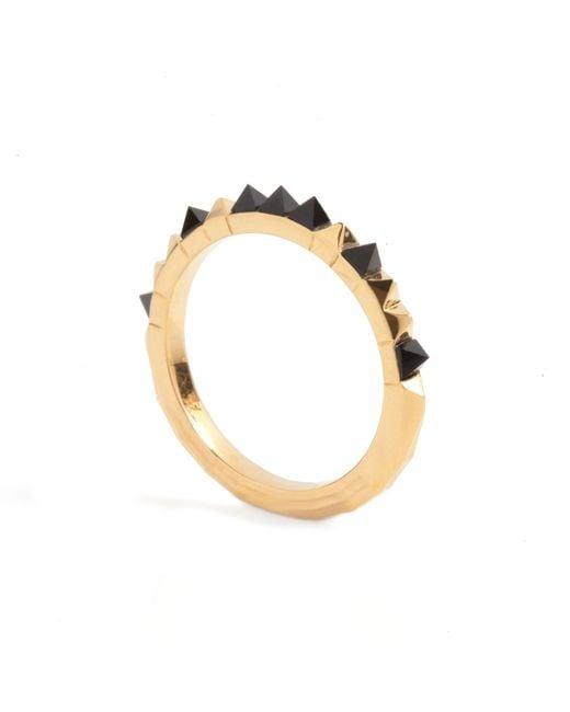 Kasun - Metallic Crocodile Onyx Ring Gold - Lyst