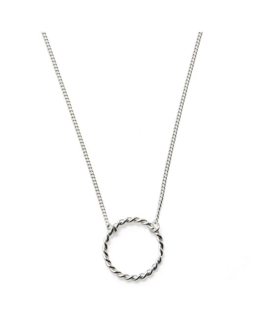 Isabel Lennse - Metallic S Twisted Circle Necklace - Lyst