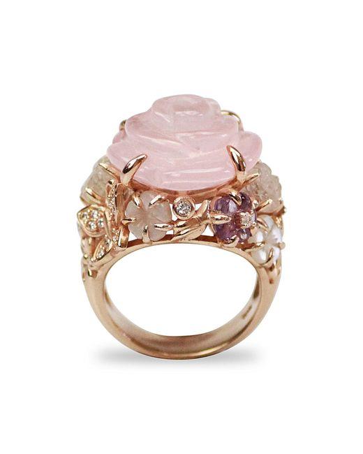 Bellus Domina - Multicolor Amare Rose Ring - Lyst