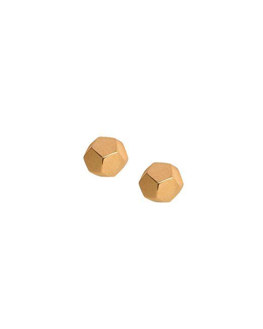 Matthew Calvin - Metallic Dodecahedron Studs Gold - Lyst