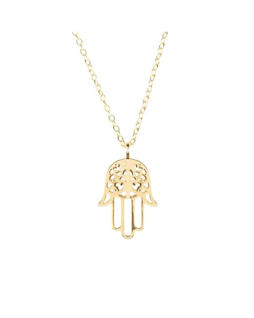 Latelita - Metallic Cosmic Hamsa Necklace Gold - Lyst