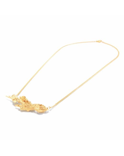 Loveness Lee | Metallic Amia Dainty Small Natural Inline Necklace | Lyst