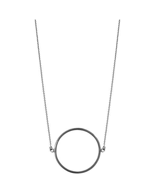 Dutch Basics - Gray Circle Necklace Oxidized Silver - Lyst