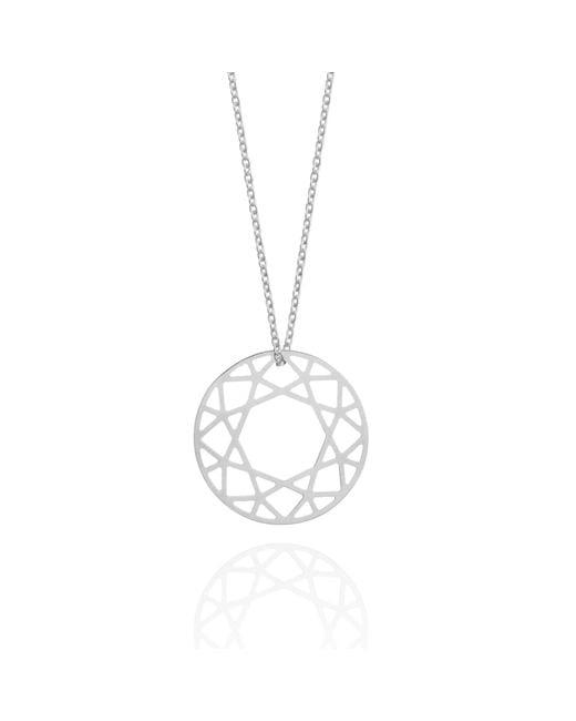 Myia Bonner - Metallic Medium Silver Brilliant Diamond Necklace - Lyst