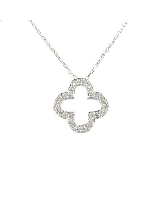 Latelita London | Metallic Open Clover Necklace Silver | Lyst