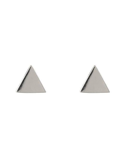 Latelita London - Metallic Cosmic Triangle Stud Earring Silver - Lyst
