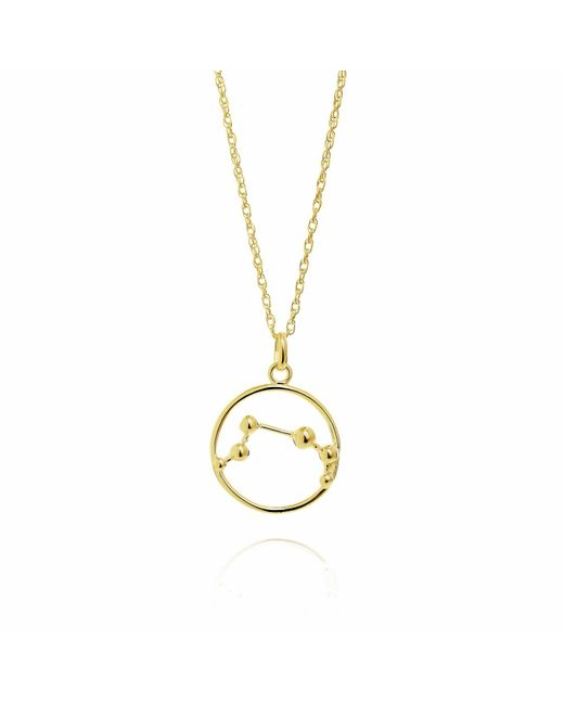 Yasmin Everley Jewellery | Metallic Aries Astrology Necklace In 9ct Gold | Lyst