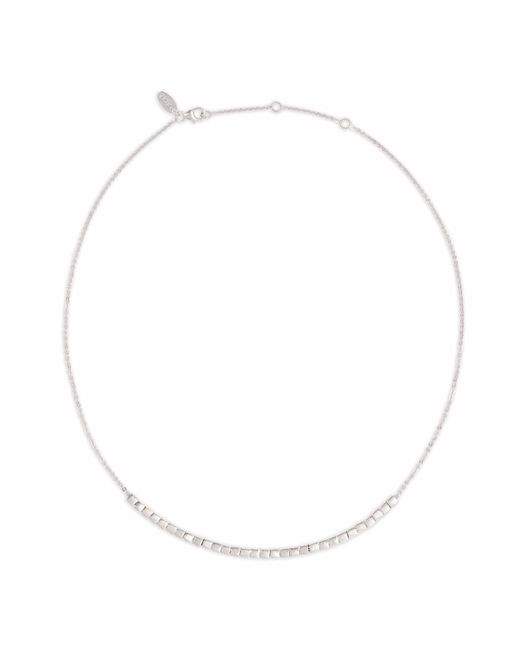 Neola - Metallic Cube Silver Necklace With Cubes - Lyst