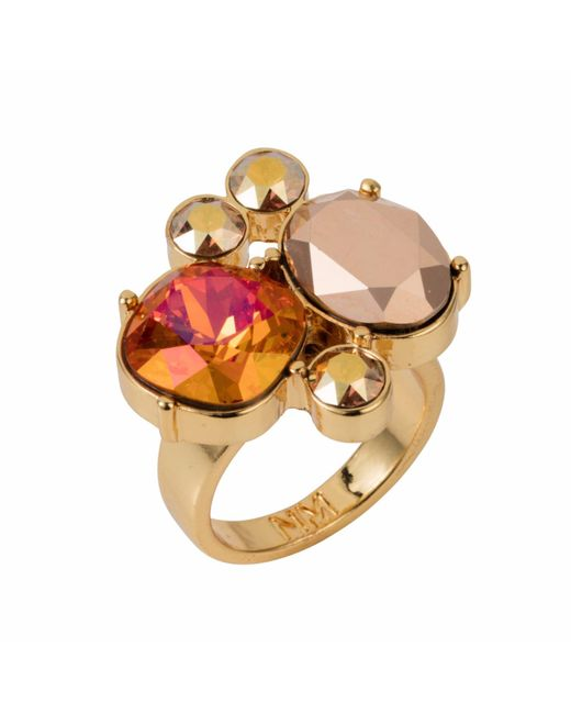 Nadia Minkoff - Metallic Yellow Gold Plated Magma Kate Cocktail Ring - Lyst