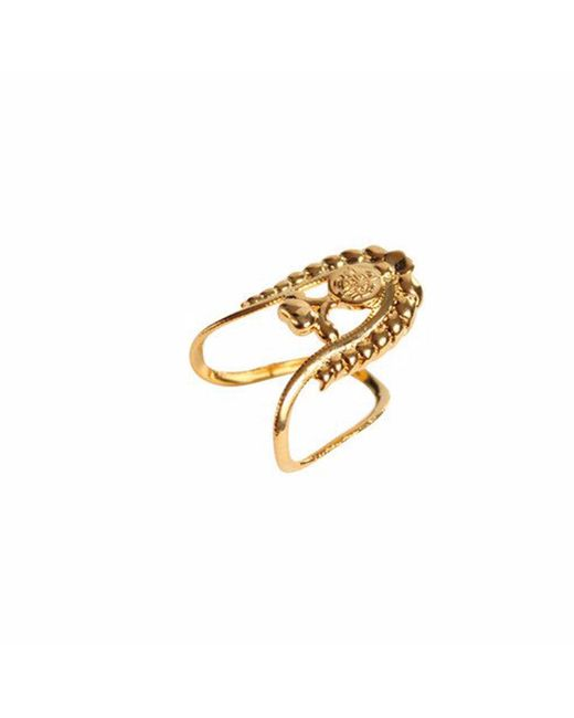 QIYADA | Metallic Aisha Knuckle Ring | Lyst