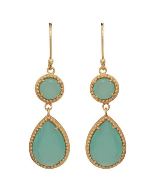 Carousel Jewels - Multicolor Chalcedony Small Double Drop Earrings - Lyst