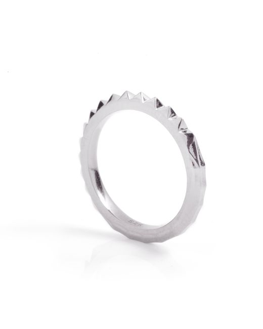 Kasun - Metallic Crocodile Ring Silver - Lyst