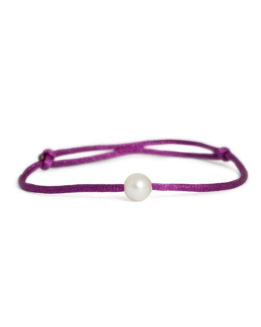 MKS JEWELLERY - Marine Activist Pearl Silk Bracelet Purple - Lyst