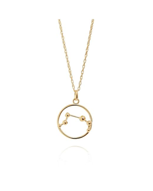 Yasmin Everley Jewellery - Metallic Aries Astrology Necklace In 9ct Gold - Lyst