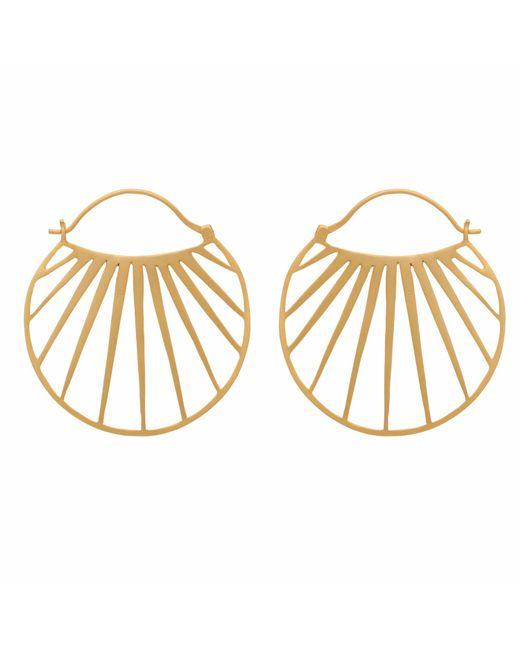Carousel Jewels - Metallic Gold Sunbeam Hoops - Lyst