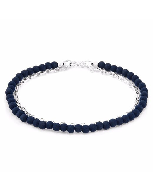 Anchor & Crew | Luxe Blue Lava Serenity Silver & Stone Bracelet | Lyst