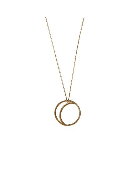 KIND Jewellery | Metallic Gold Crescent Lune Pendant Necklace | Lyst