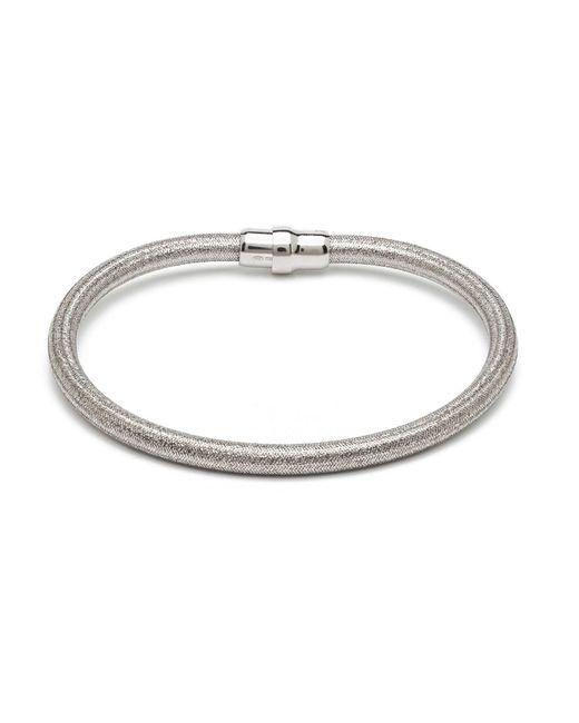 Durrah Jewelry - Metallic Silver Silk Bracelet - Lyst