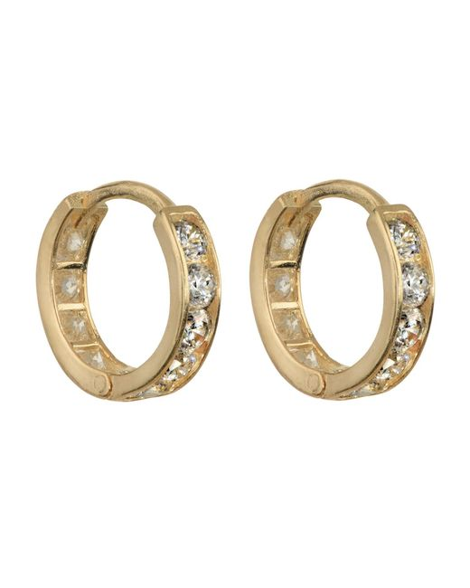 Talia Naomi | Metallic Pavé Eternity Earrings Gold | Lyst