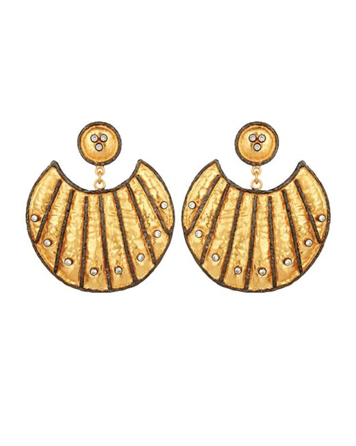 Carousel Jewels - Metallic Heritage Gold & Crystal Statement Earrings - Lyst