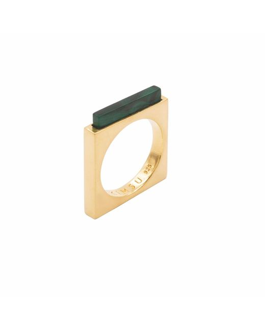 KIMSU - Metallic 18k Vermeil Gold Quadrato Ring - Lyst