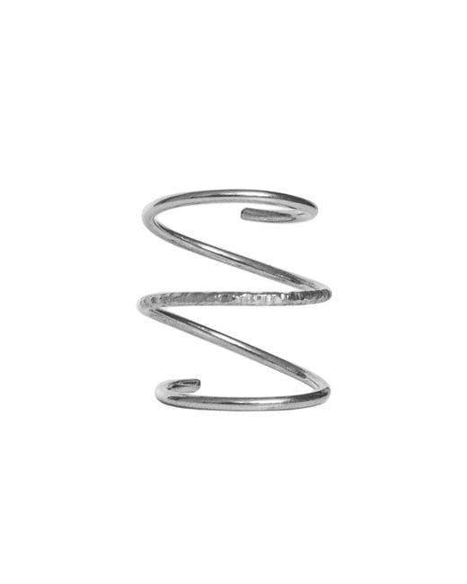 Dutch Basics - Metallic Silver Spiral Ring - Lyst
