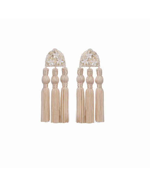 Wafa By Wafa   Multicolor Cream Holly Earrings   Lyst